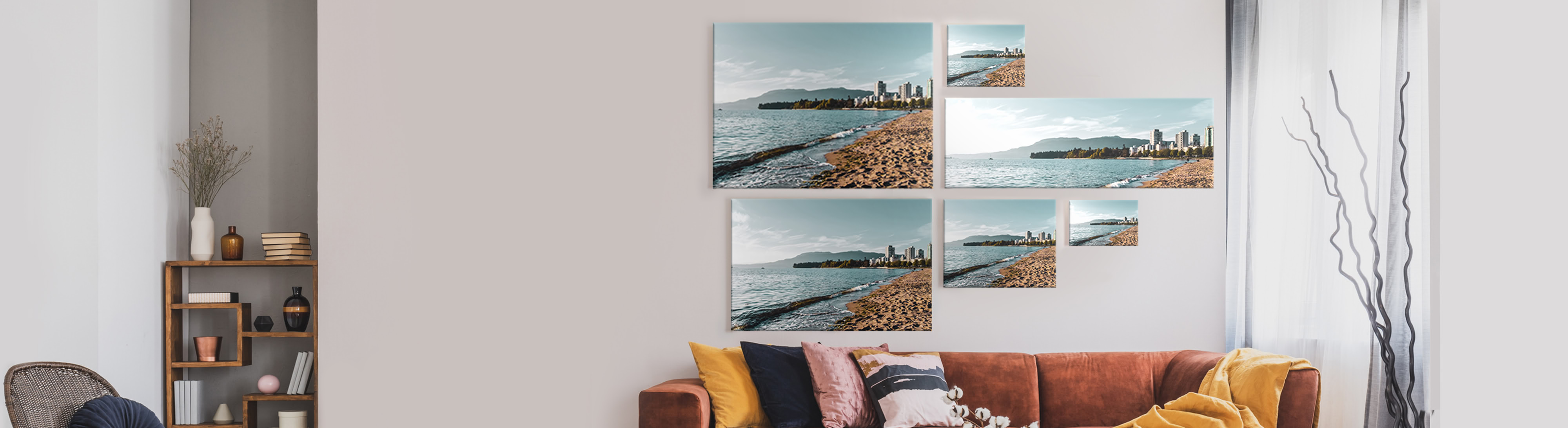 Canvas print size options